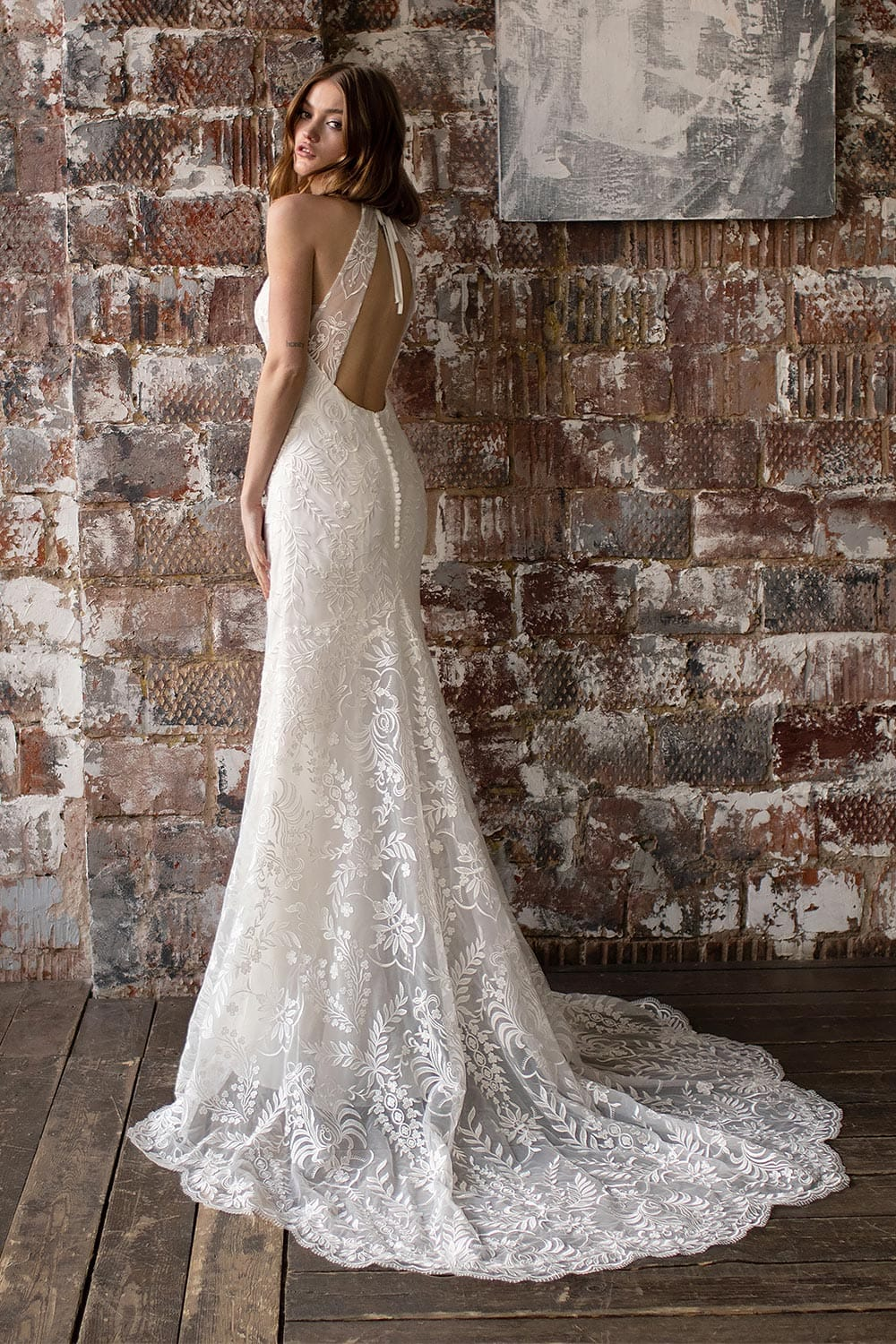 bridal shop near me wedding dress shop near me boho wedding dress high neck wedding dress 3